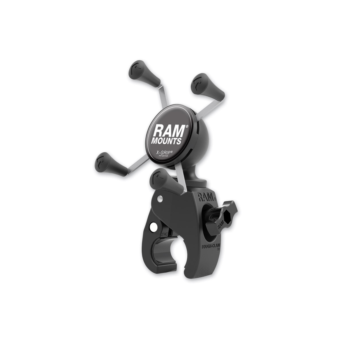 Ram Mount Tough-Claw Mount with Universal X-Grip Cradle for Small Phones