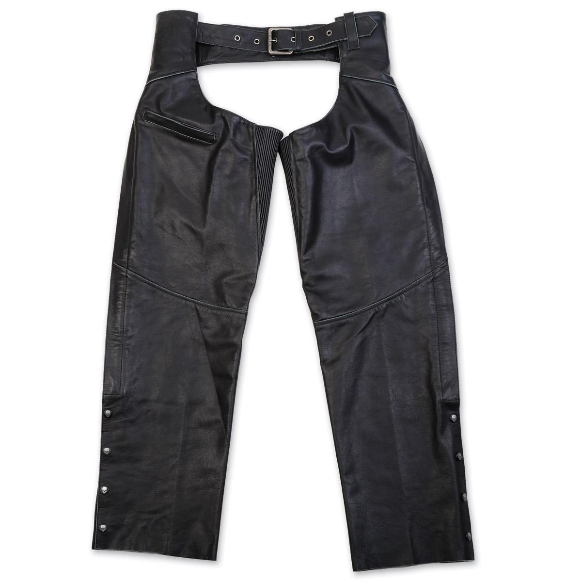 Black Brand Men's Torque Black Leather Chaps