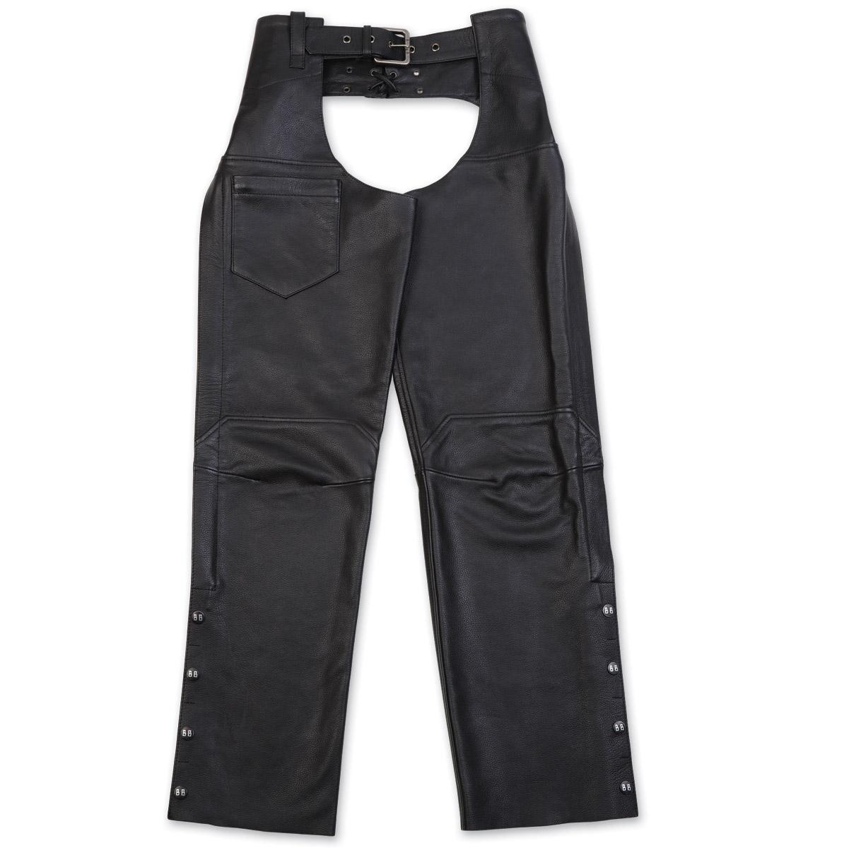 Black Brand Women's Hotness Black Leather Chaps