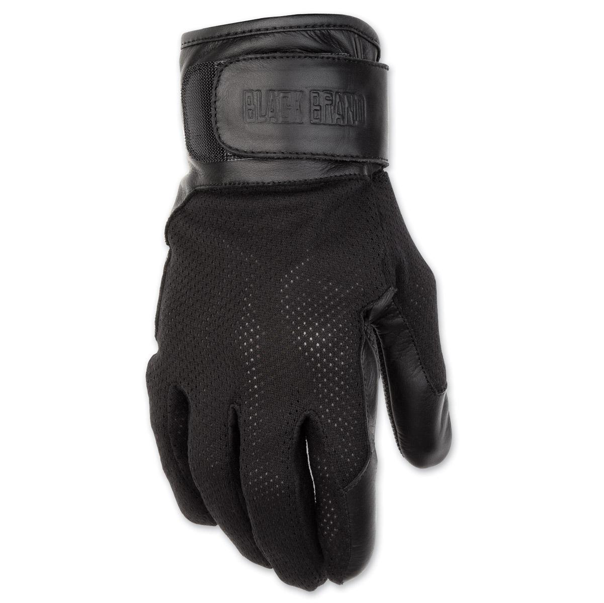 Black Brand Men's High Flow Black Mesh Gloves
