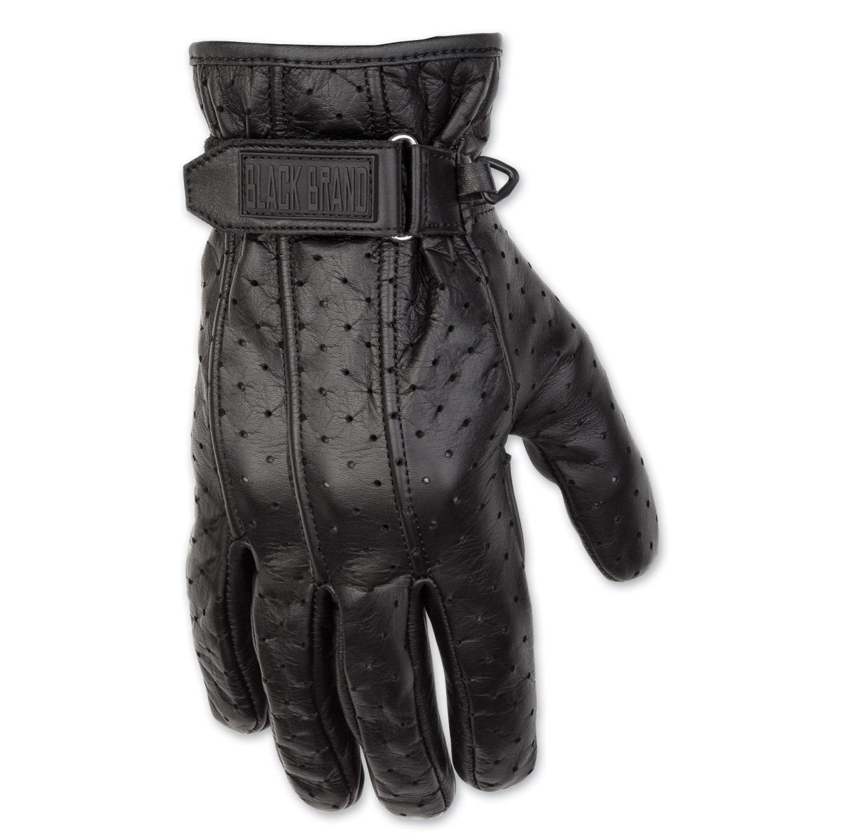 Black Brand Men's Filter Black Leather Gloves
