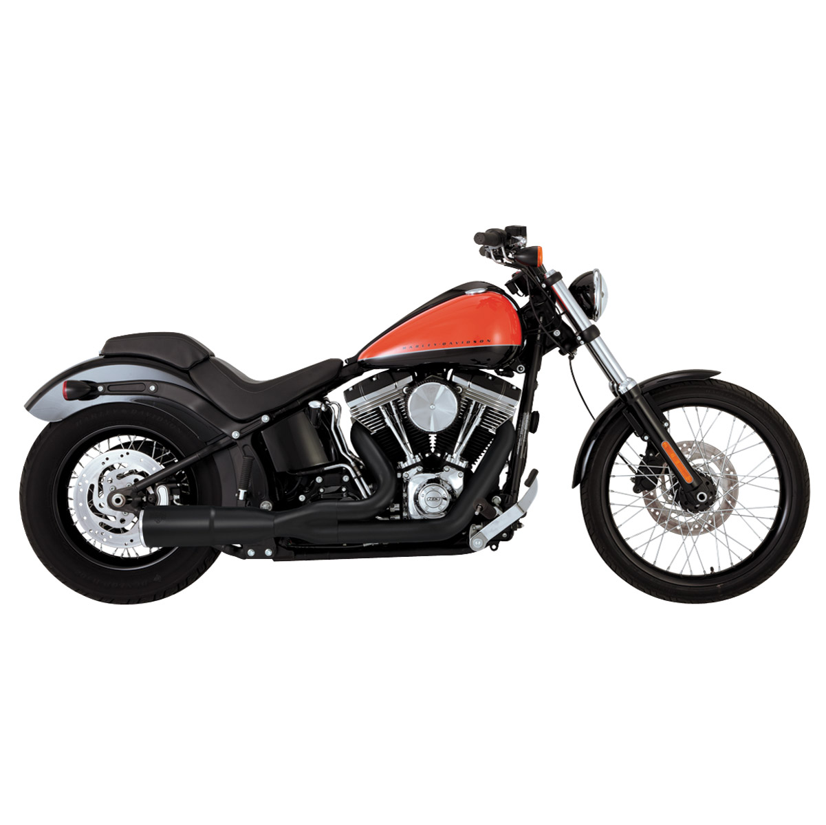 Vance & Hines Hi Output 2 Into 1 Exhaust Black Short - 46543