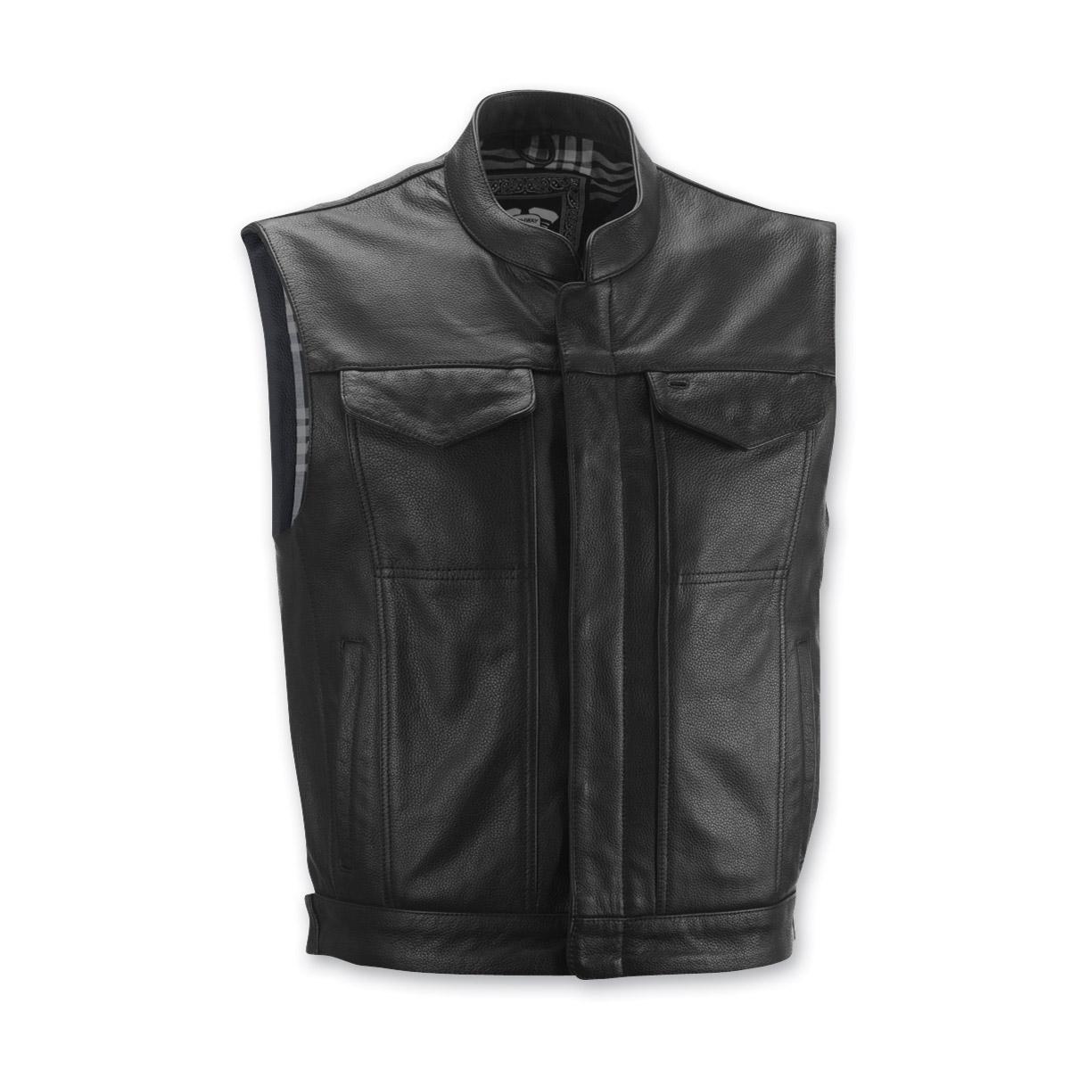 Highway 21 Men's Magnum Black Leather Vest