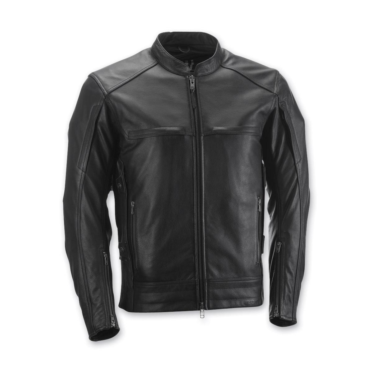 Highway 21 Men's Gunner Black Leather Jacket