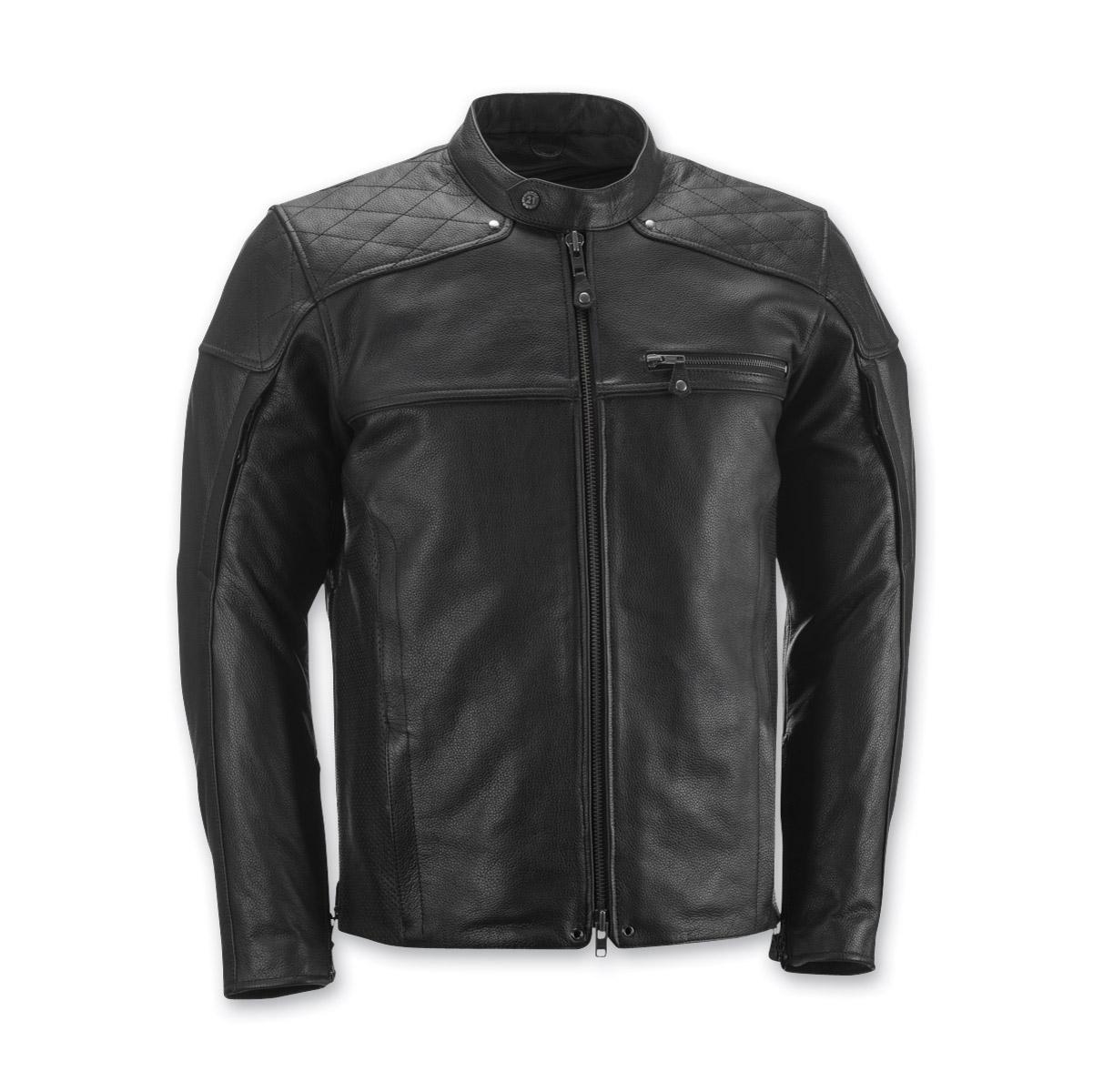 Highway 21 Men's Gasser Black Leather Jacket