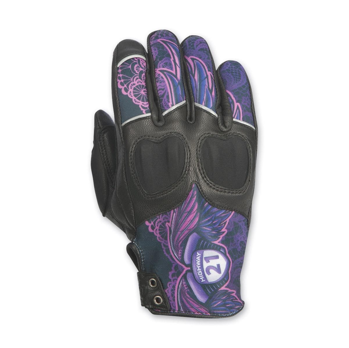 Highway 21 Women's Vixen Purple Leather Gloves