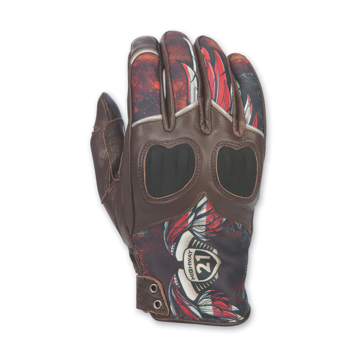 Highway 21 Women's Vixen Liberty Brown Leather Gloves