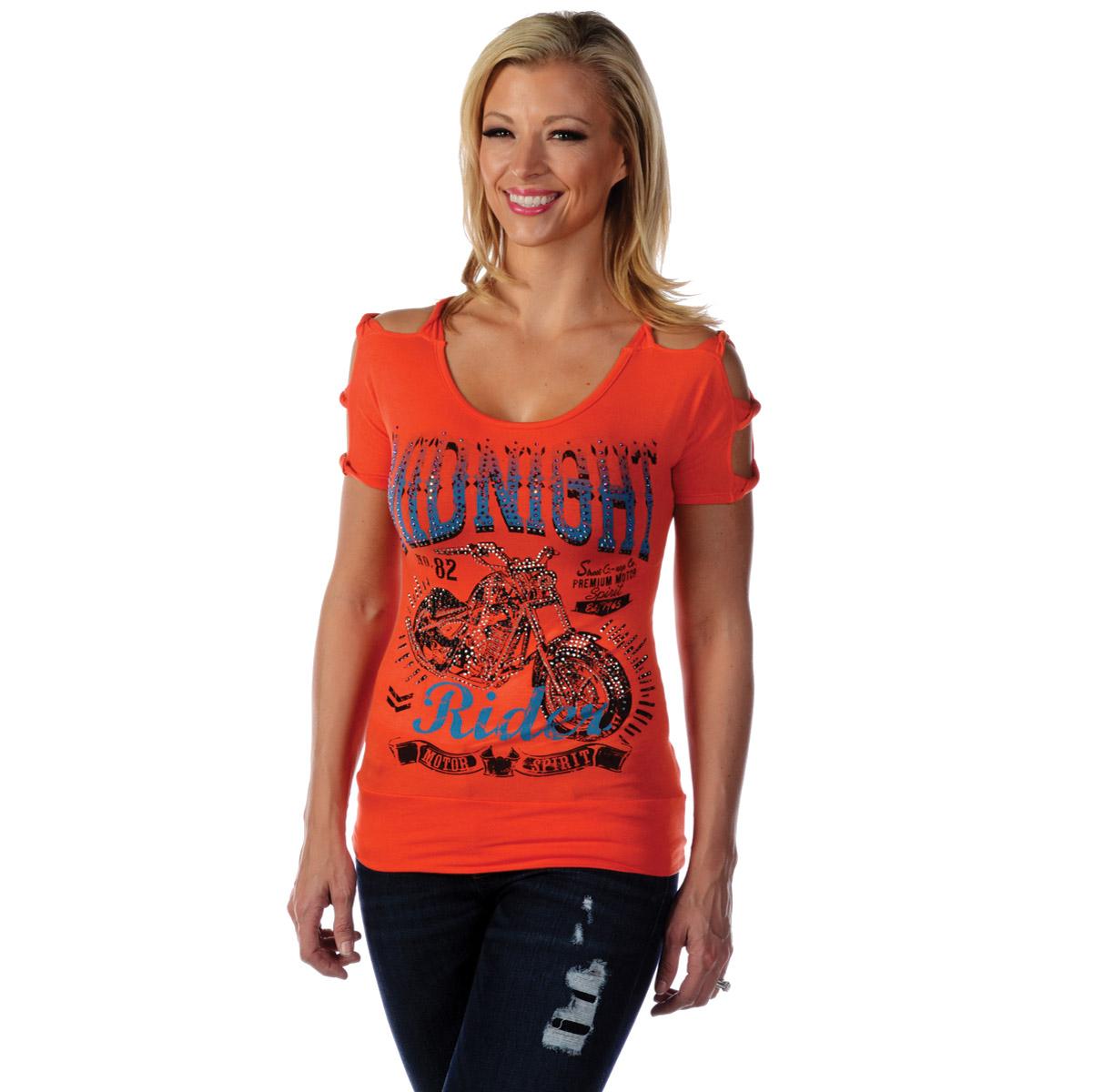 Liberty Wear Women's Midnight Rider Orange Top