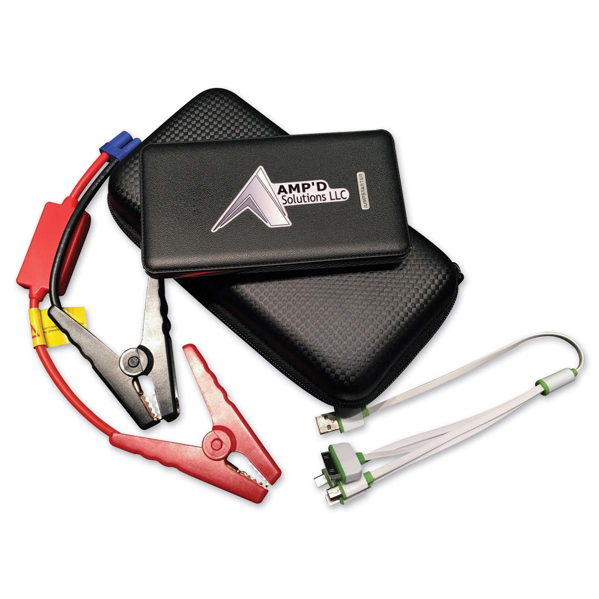 Amp'd Solutions Black Ultra-Slim Jump Starter