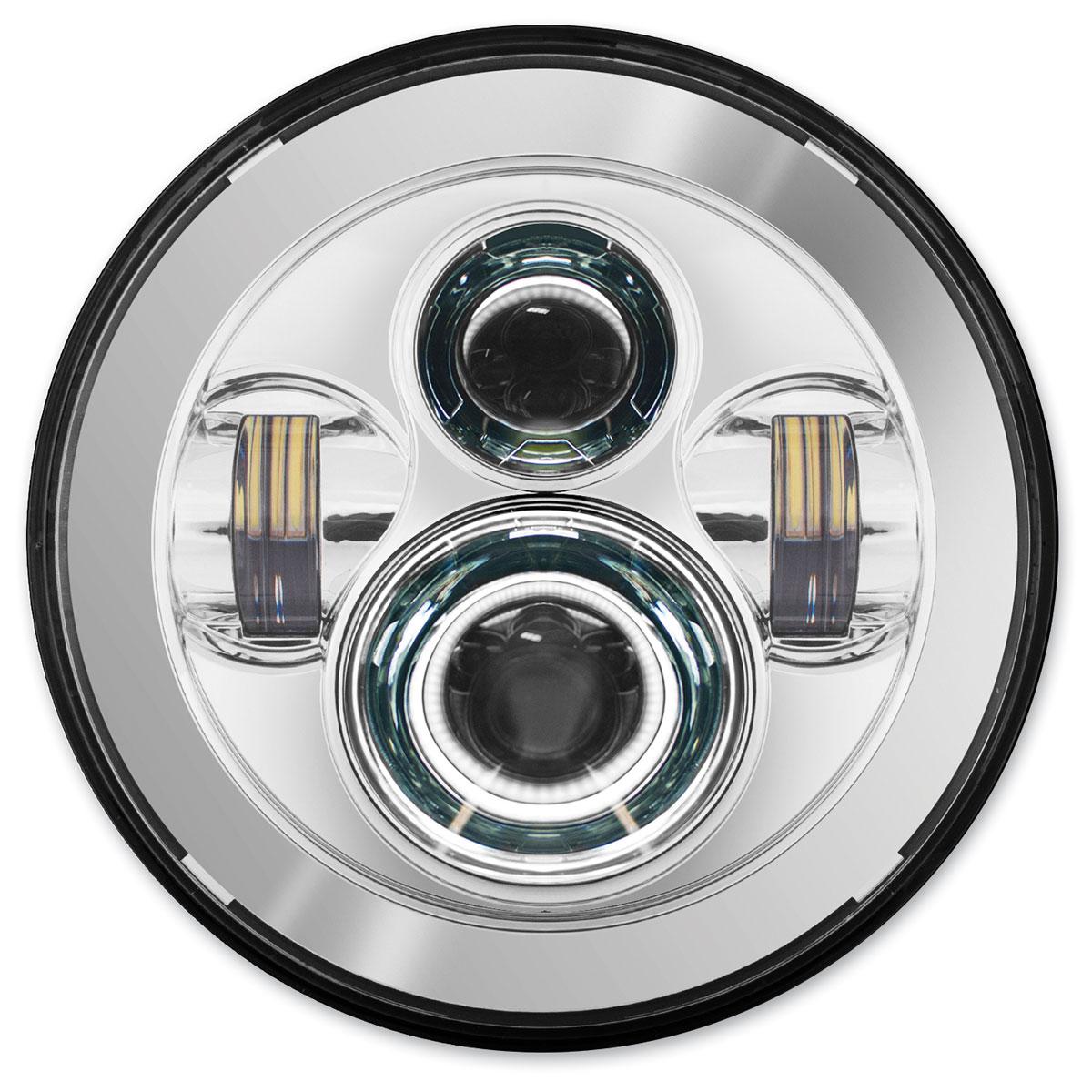 HogWorkz 7″ LED Daymaker Chrome Headlight Kit