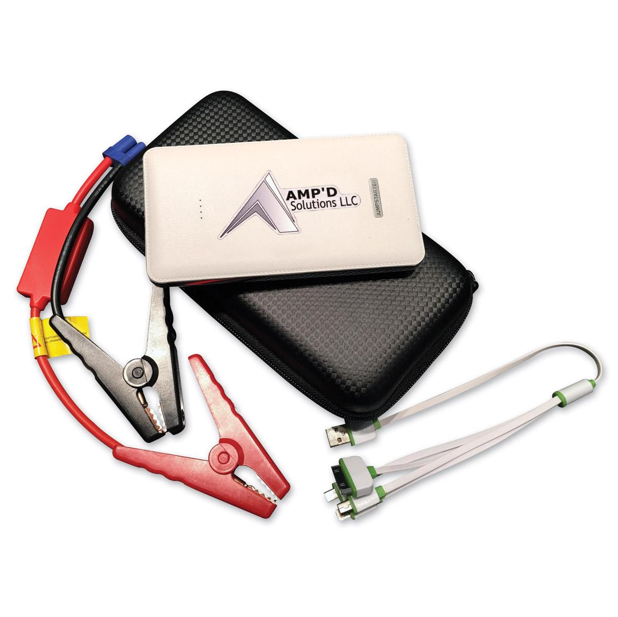 Amp'd Solutions White Ultra-Slim Jump Starter
