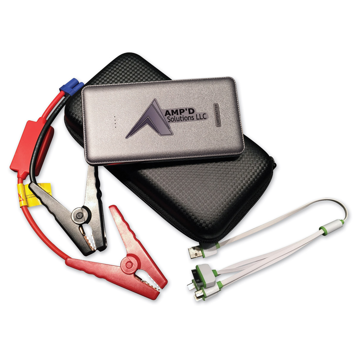 Amp'd Solutions Silver Ultra-Slim Jump Starter