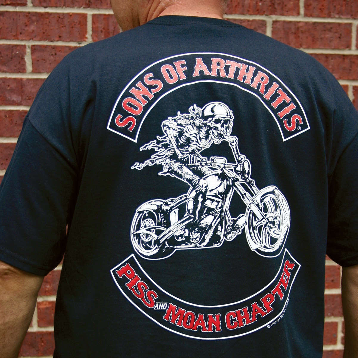 Sons of Arthritis Men's Piss And Moan Chapter Black T-Shirt