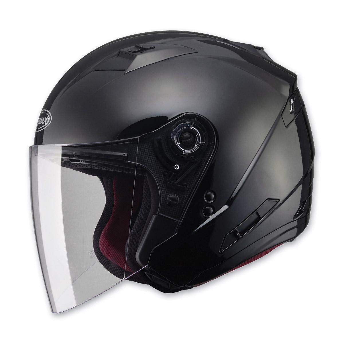 GMAX OF77 Black Open Face Helmet