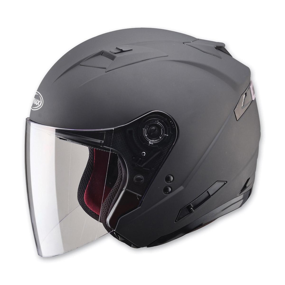 GMAX OF77 Matte Black Open Face Helmet