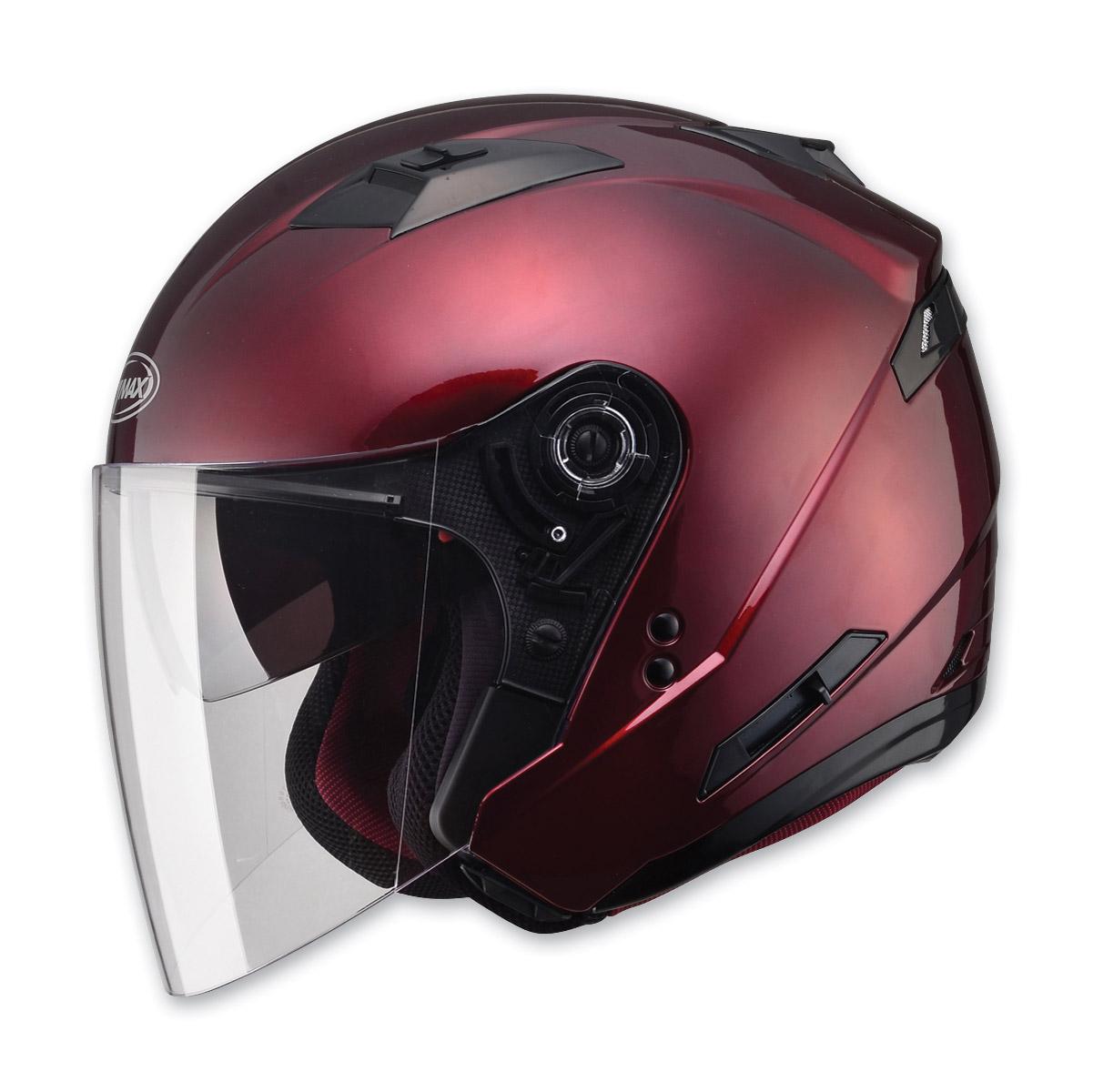 GMAX OF77 Wine Red Open Face Helmet