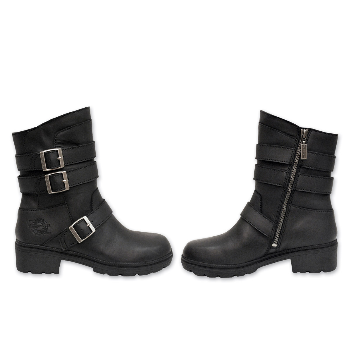 Milwaukee Motorcycle Clothing Co. Women's Cameo Black Leather Boots
