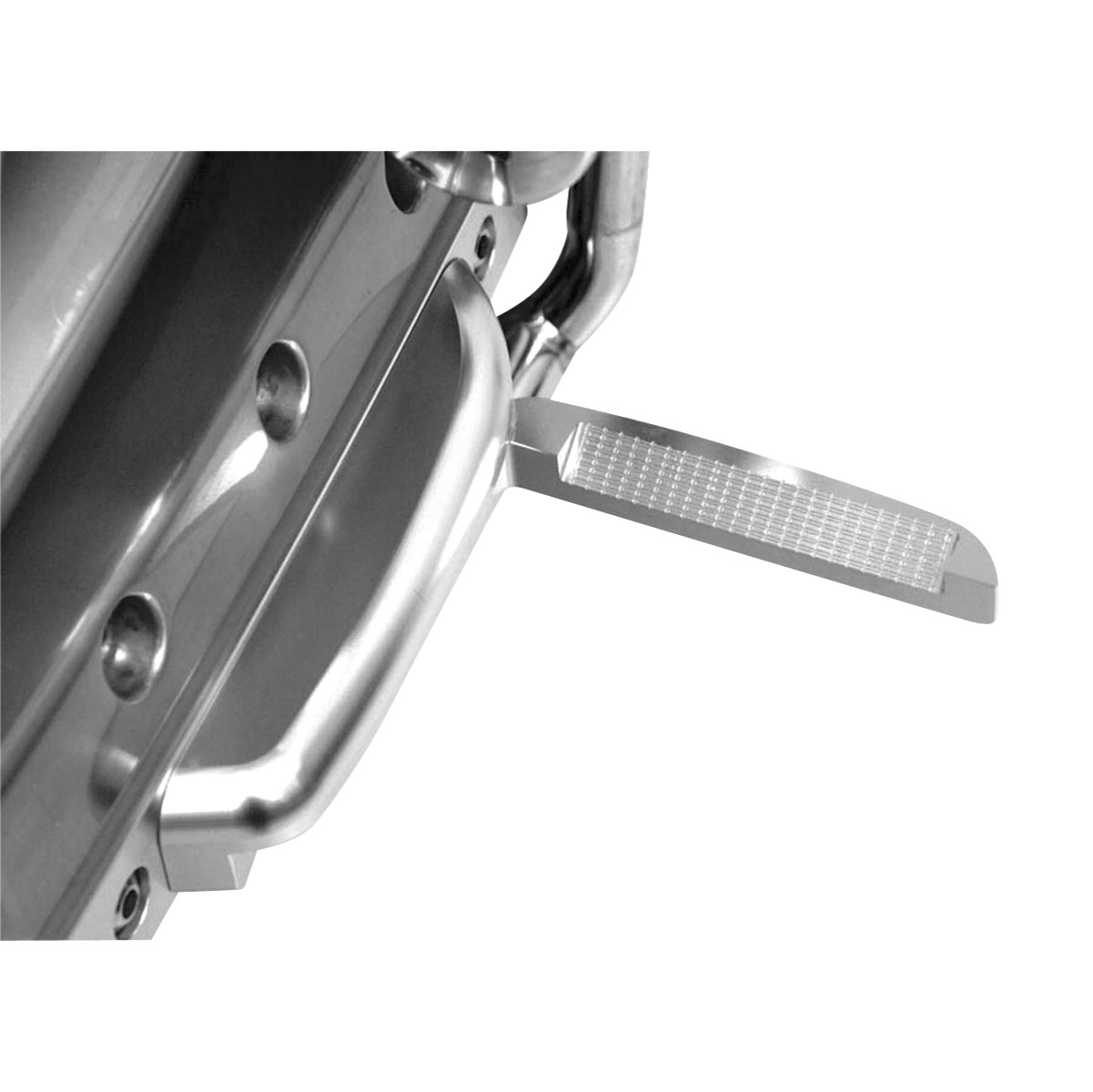 Rivco Aero Flip-Out Highway Pegs-Anodized Silver