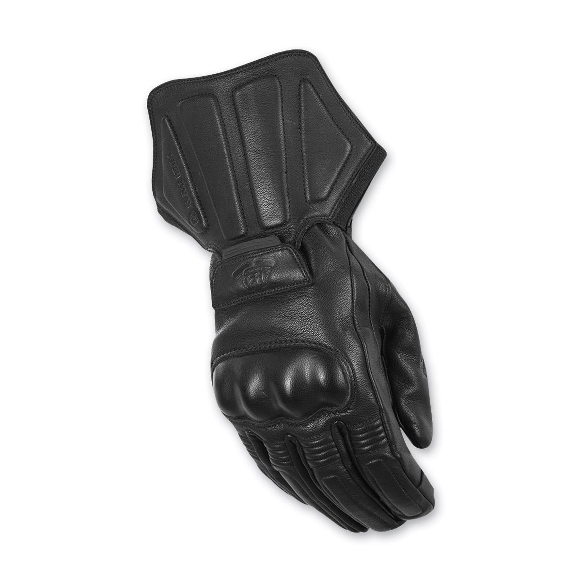 Highway 21 Men's Deflector Black Leather Gloves
