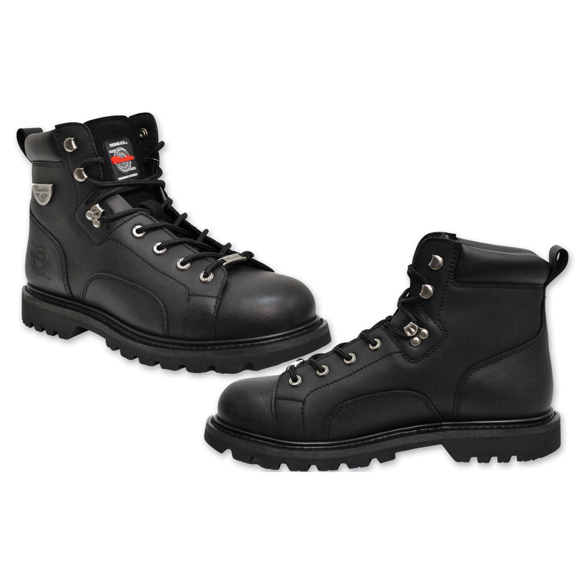 Milwaukee Motorcycle Clothing Co. Men's Nightrider Black Leather Boots
