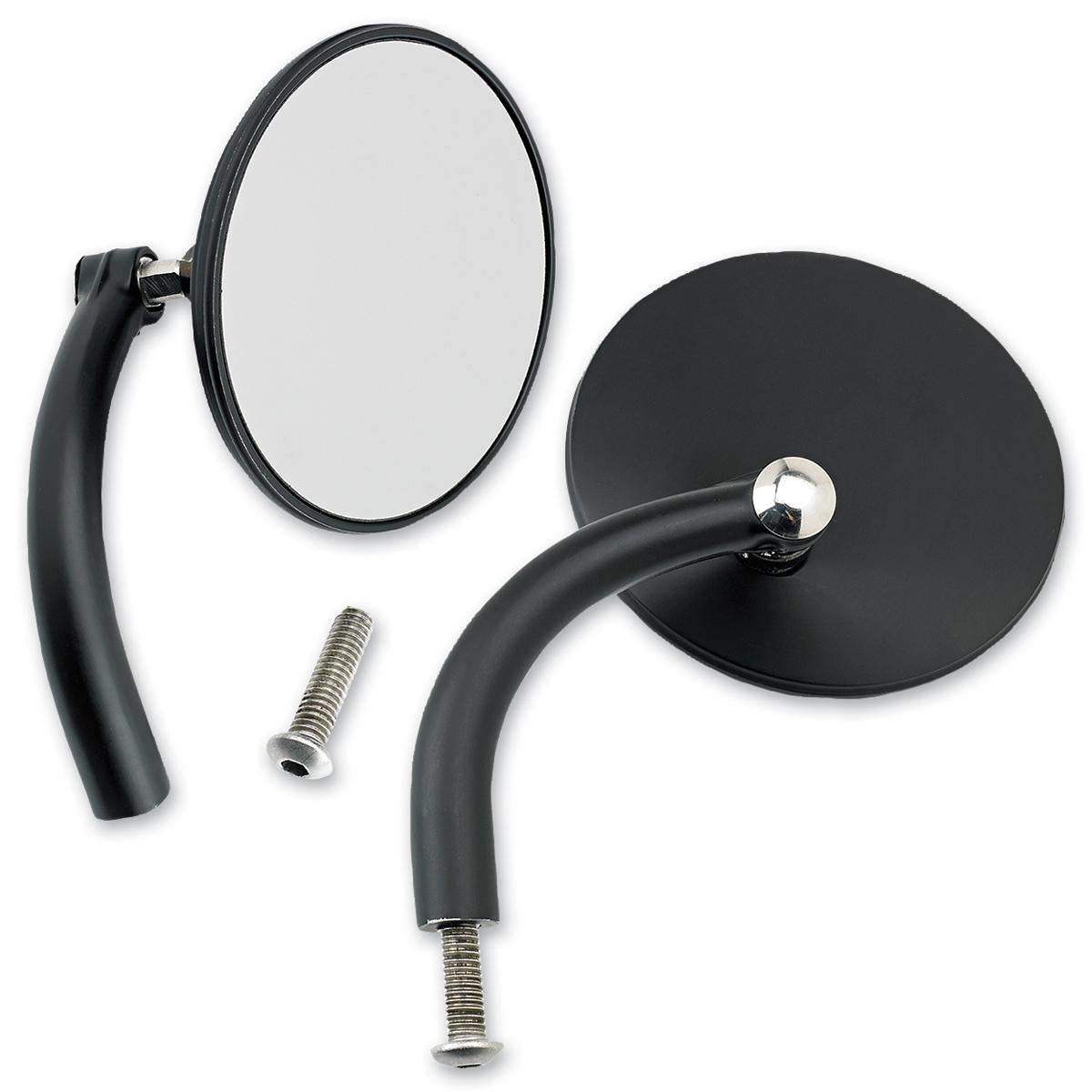 Biltwell Inc. Black Round Utility Mirror Set