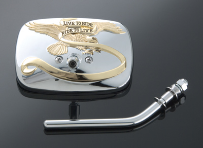J&P Cycles® 'Live to Ride' Short Stem Mirror