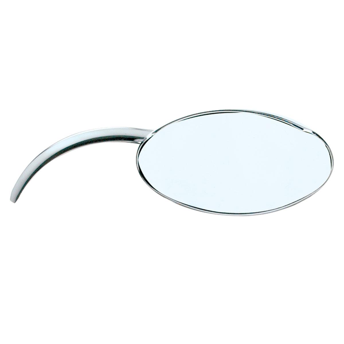 J&P Cycles Chrome Oval Mirror Set with Classic Contour Stem