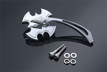 J&P Cycles® Battle Ax Mirror with Spear Stem