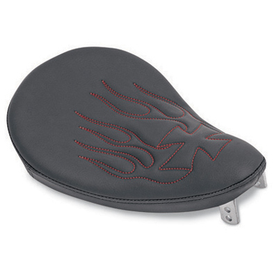 Drag SpecialtiesSmall Spring Solo Seat with Black Vinyl and Red Flames