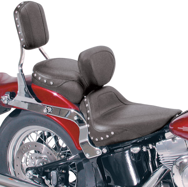 Mustang Studded Sport Touring Solo Seat with Backrest