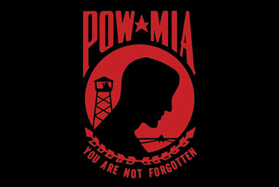 Rumbling Pride Red POW-MIA 6″ x 9″ Flag