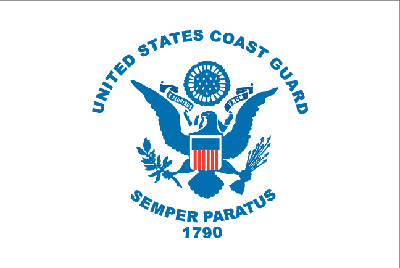Rumbling Pride Coast Guard 6″ x 9″ Flag