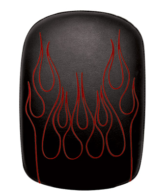 Phantom Pads Red Flame Embroidery