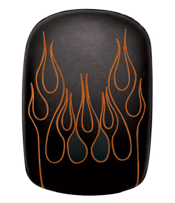 Phantom Pad Passenger Seat w/ Orange Flame Embroidery