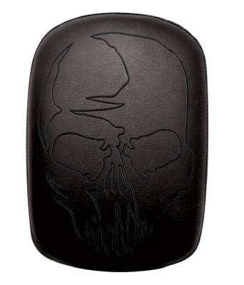 Phantom Pads Black Skull Embroidery