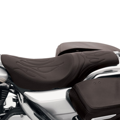 Drag Specialties Predator Custom Flame Stitch Seat
