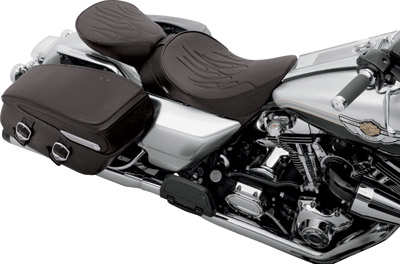 Drag Specialties Solo Front Seat with Flame Stitching