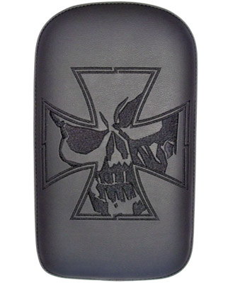Phantom Pad Small Solid Embroidery Vinyl Iron Cross Skull Passenger Seat