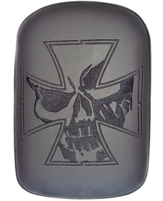 Phantom Pad Large Solid Embroidery Vinyl Iron Cross Skull Passenger Seat
