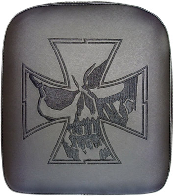 Phantom Pad X-Large Solid Embroidery Vinyl Iron Cross Skull Passenger Seat