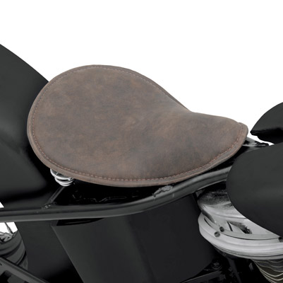 Drag Specialties Distress Brown Leather Seat Solo Seat