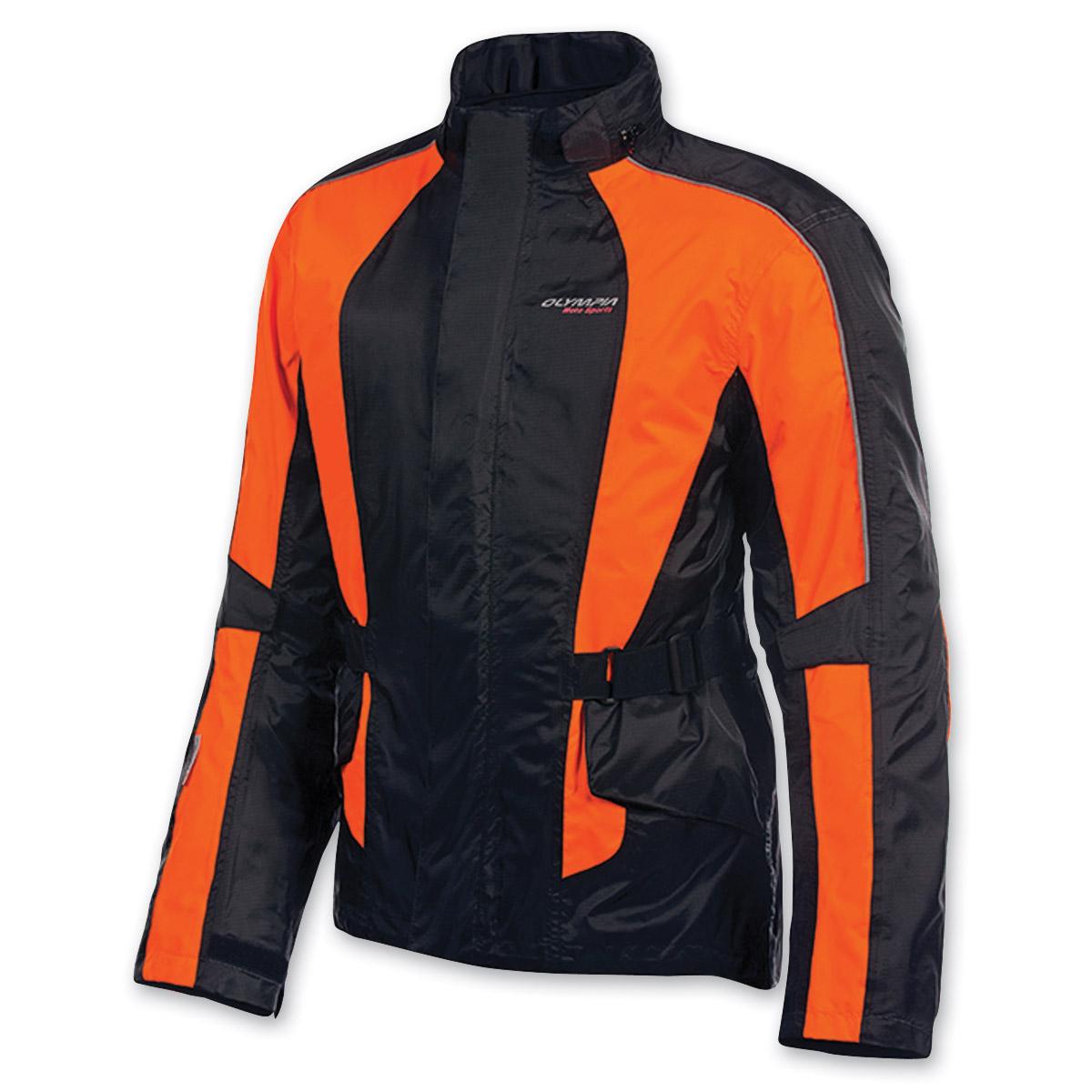 Olympia Moto Sports Unisex Horizon Neon Orange Rain Jacket