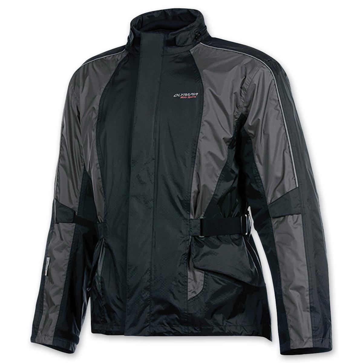 Olympia Moto Sports Unisex Horizon Pewter Rain Jacket