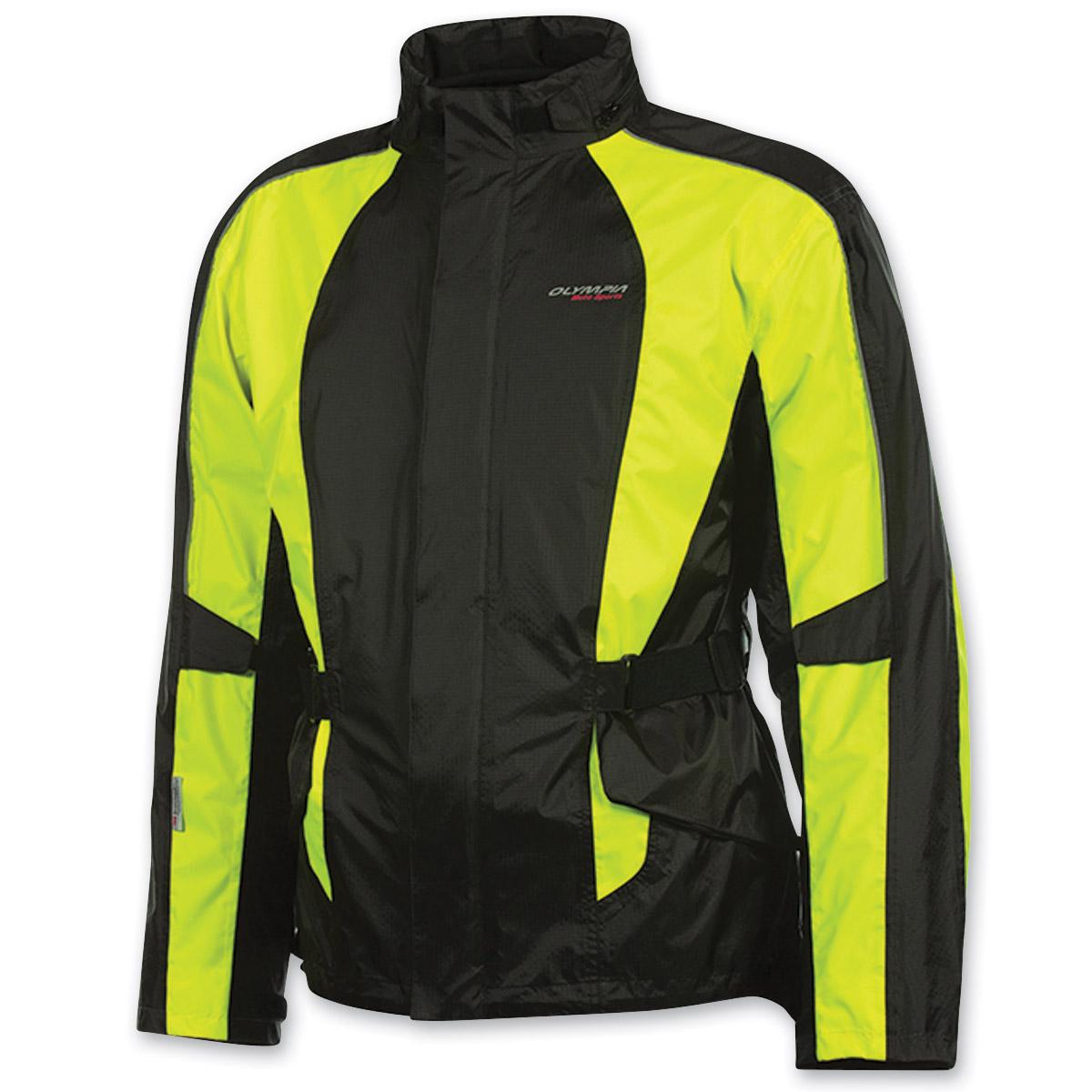 Olympia Moto Sports Unisex New Horizon Neon Yellow Rain Jacket