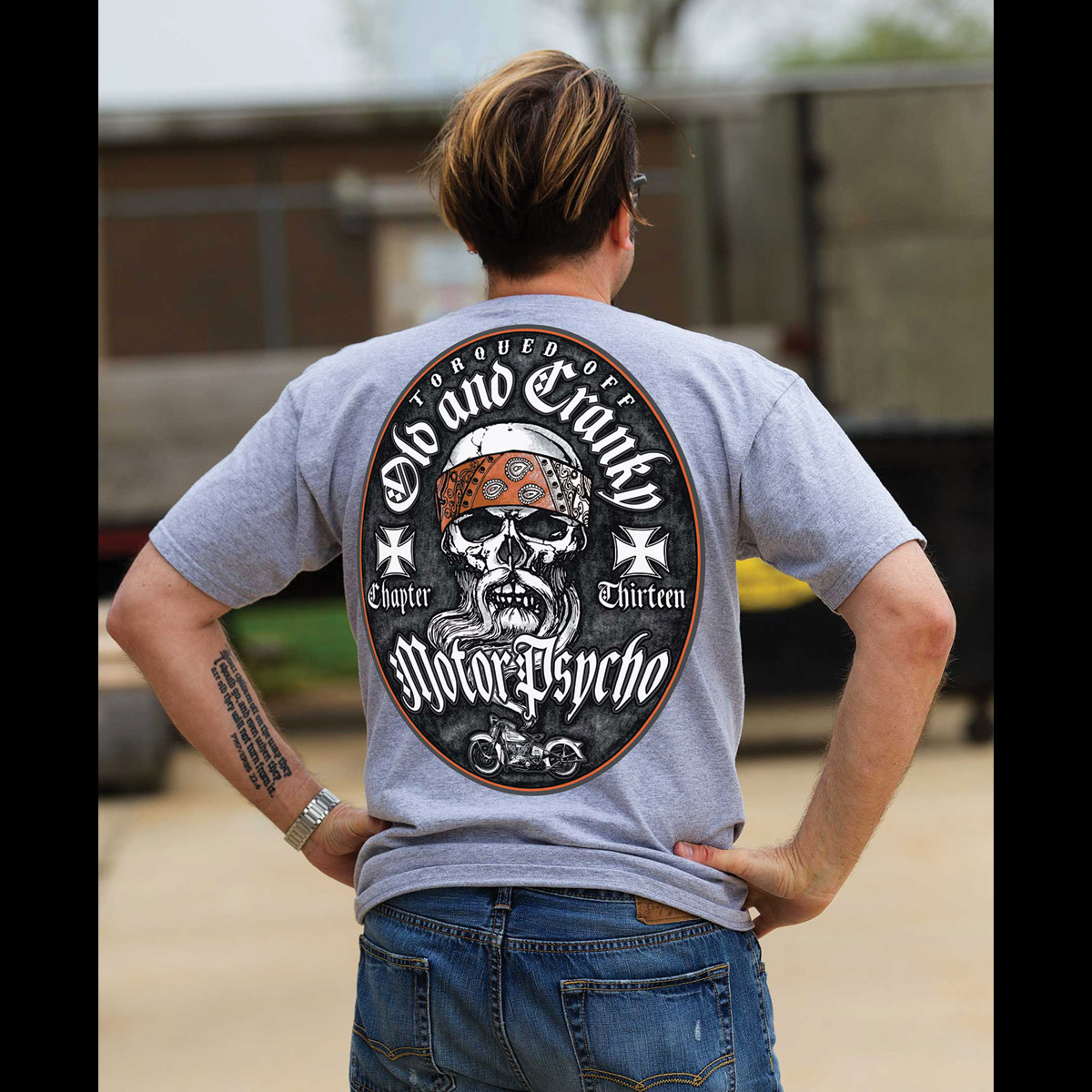 Chapter 13 Men's Old & Cranky Psycho Gray T-Shirt
