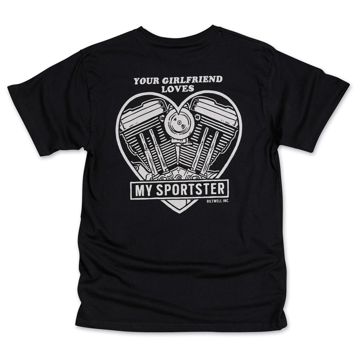 Biltwell Inc. Men's Girlfriend Black T-Shirt