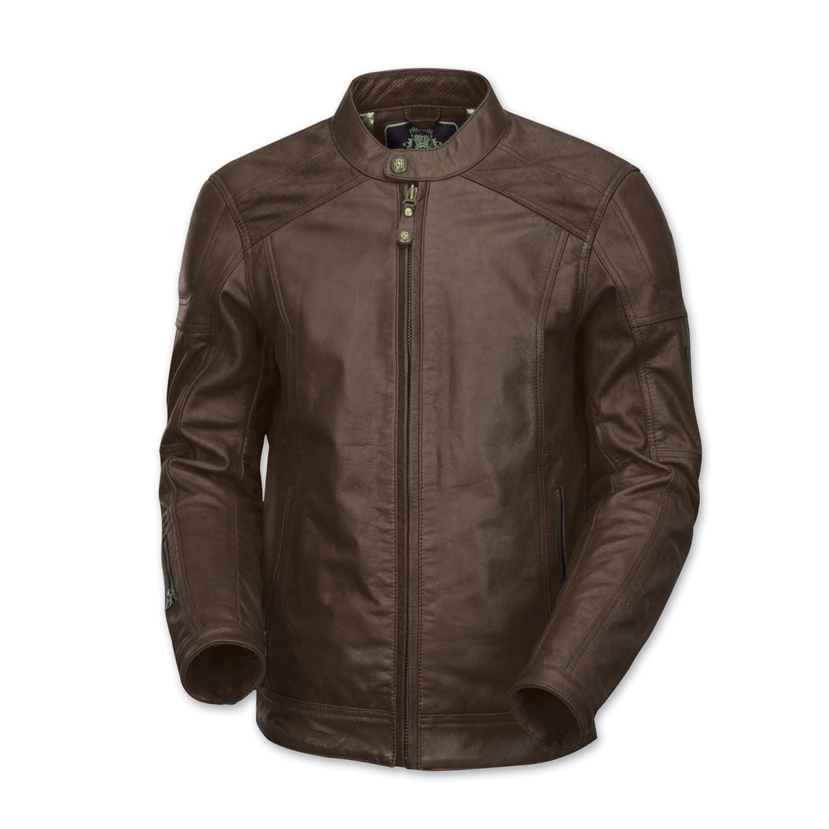 Roland Sands Design Men's Carson Brown Leather Jacket