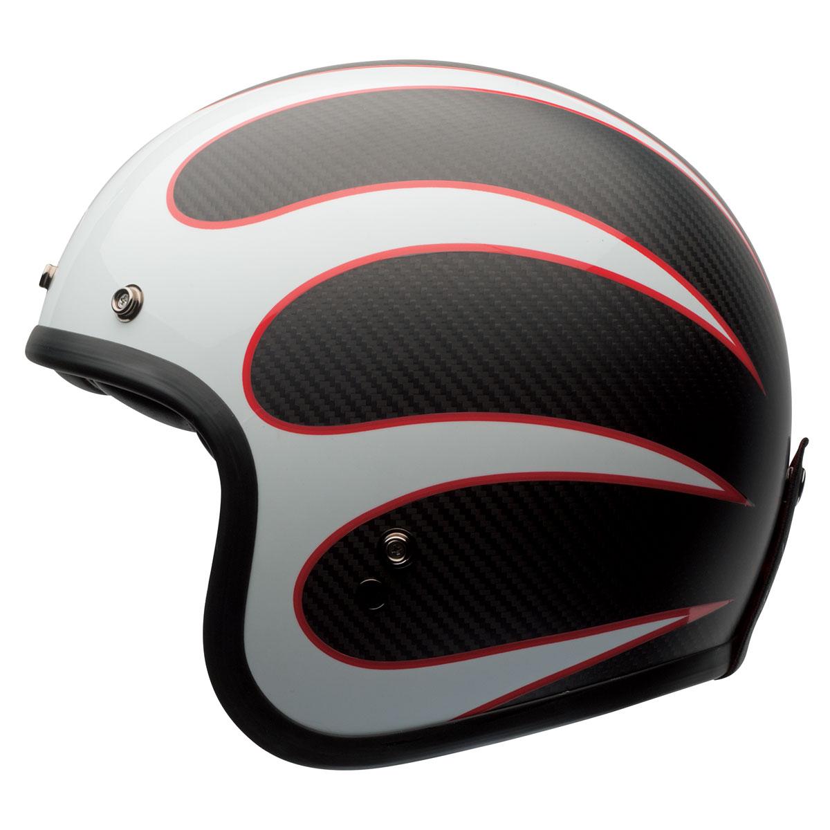 Bell Custom 500 Carbon Ace Cafe Ton Up Open Face Helmet