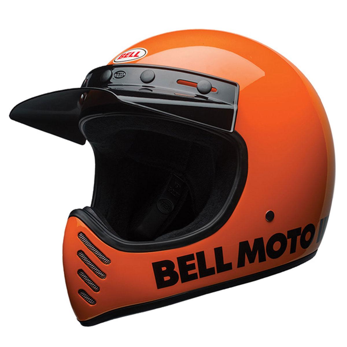 Bell Moto 3 >> Bell Moto 3 Classic Flo Orange Full Face Helmet 7080615 Jpcycles Com