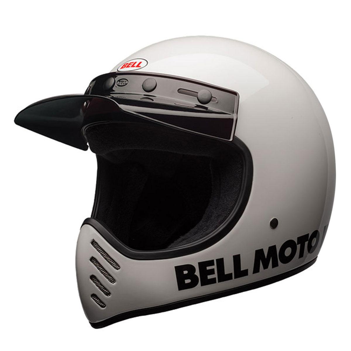 Bell Moto 3 >> Bell Moto 3 Classic White Full Face Helmet 7080632 Jpcycles Com
